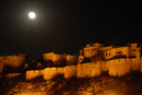 Jaisalmer Fort with full moon