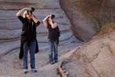 Participants at Tent Rocks National Monument, NM